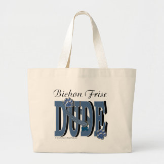 Bichon Frise DUDE Tote Bags