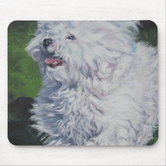 Bichon Frise Fine Art Painting Mouse Pad