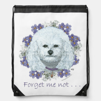 Bichon Frise - Forget Me Nots Backpack