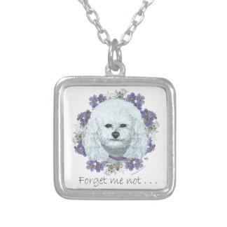Bichon Frise - Forget Me Nots Personalized Necklace