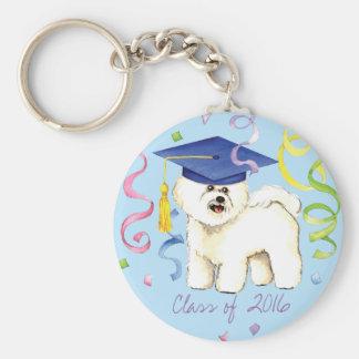Bichon Frise Graduate Keychain