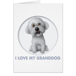 Bichon Frise Granddog Card