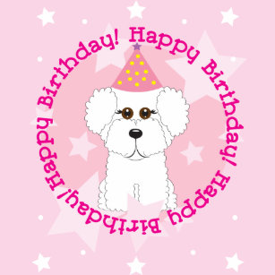 Bichon Frise Happy Birthday Dog Shirt