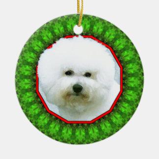 Bichon Frise Happy Howliday Christmas Ornaments