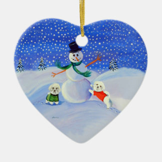 Bichon Frise Heart Ornament