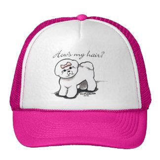 Bichon Frise Hows My Hair Trucker Hat