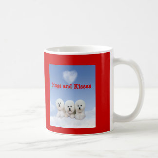 Bichon Frise Hugs and Kisses Heart Mug