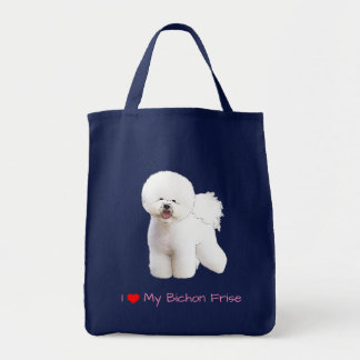 Bichon Frise Illustrated Grocery Bag