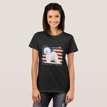 USA Themed Bichon Frise Illustrated T-Shirt