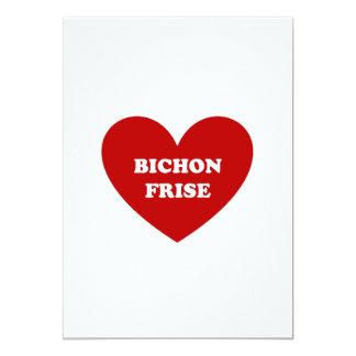 """Bichon Frise Invitación 5"""" X 7"""""""