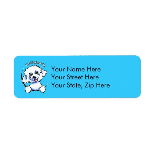 Bichon Frise Its All About Me Return Address Labels
