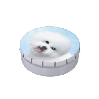 Bichon Frise Jelly Belly Tin