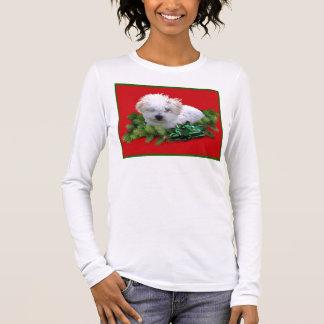 Bichon Frise Ladies Tom Long Sleeve T-Shirt