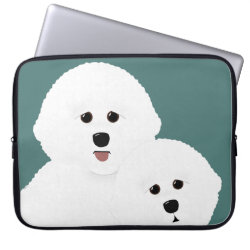 Neoprene Laptop Sleeve 15' with Bichon Frise Phone Cases design