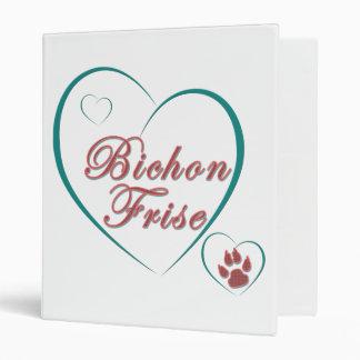 Bichon Frise Love 3 Ring Binders