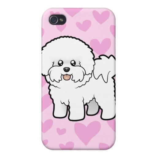 Bichon Frise Love (add your own background!) iPhone 4/4S Covers