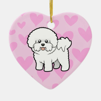 Bichon Frise Love (add your own message) Christmas Tree Ornaments