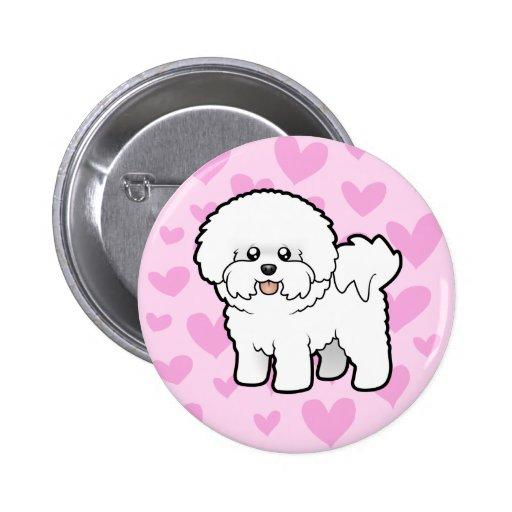 Bichon Frise Love Button