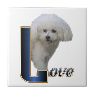 Bichon Frise Love Ceramic Tile
