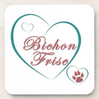 Bichon Frise Love Beverage Coaster