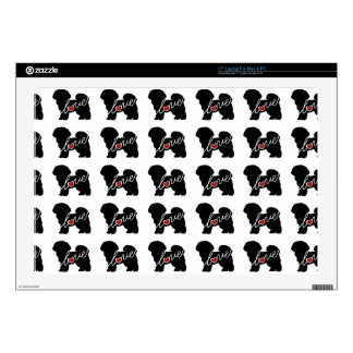 """Bichon Frise Love Decal For 17"""" Laptop"""