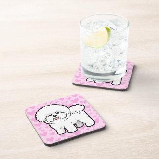 Bichon Frise Love Drink Coaster