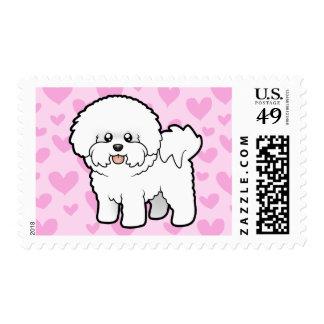 Bichon Frise Love Postage Stamp
