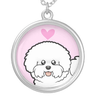 Bichon Frise Love Silver Plated Necklace