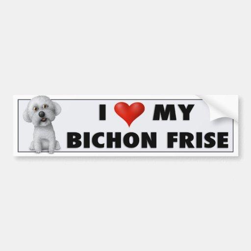 Bichon Frise Love Sticker Zazzle