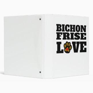 Bichon Frise Love Vinyl Binder
