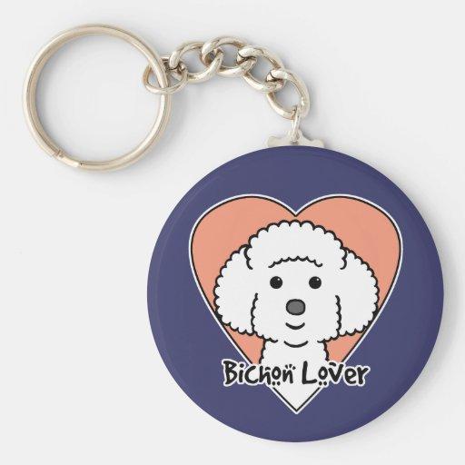 Bichon Frise Lover Keychain