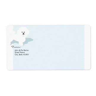 Bichon Frise Mailing Label