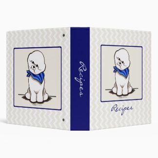 Bichon Frise Mamas Boy Blue Recipes Custom 3 Ring Binder