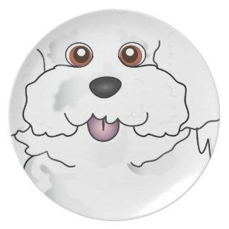 Bichon Frise Melamine Plate