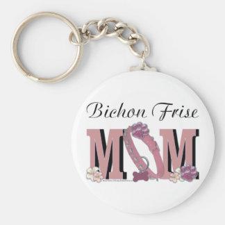 Bichon Frise MOM Keychains