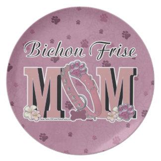 Bichon Frise MOM Party Plates