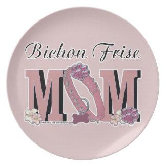 Bichon Frise MOM Dinner Plates
