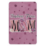 Bichon Frise MOM Rectangle Magnets