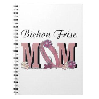 Bichon Frise MOM Spiral Note Book