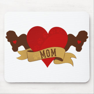 Bichon Frise Mom [Tattoo style] Mouse Pad