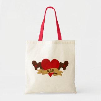 Bichon Frise Mom [Tattoo style] Tote Bag