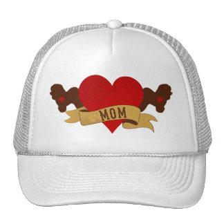Bichon Frise Mom [Tattoo style] Trucker Hat