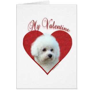 Bichon Frise My Valentine Greeting Card