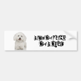 Bichon Frise on Board Bumper Sticker
