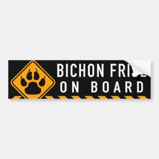 Bichon Frise On Board Bumper Sticker