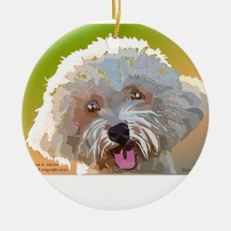 Bichon Frise Christmas Tree Ornaments