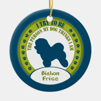 Bichon Frise Christmas Ornaments