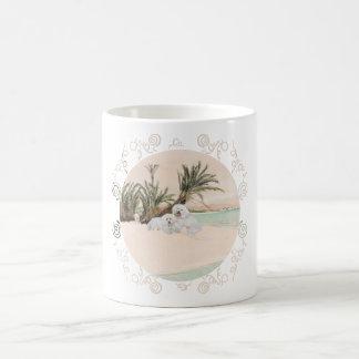 Bichon Frise Palmy Beach Coffee Mug