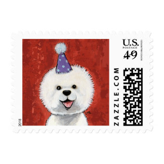 Bichon Frise Party Dog - Small Postage