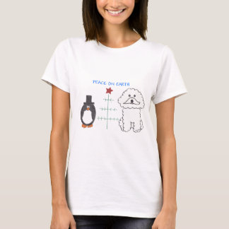 Bichon Frise Peace On Earth T-Shirt